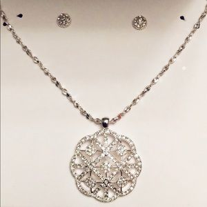 NWT Charter Club Necklace and Stud Earring Set